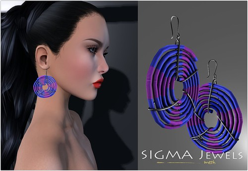 SIGMA/ Cord earrings