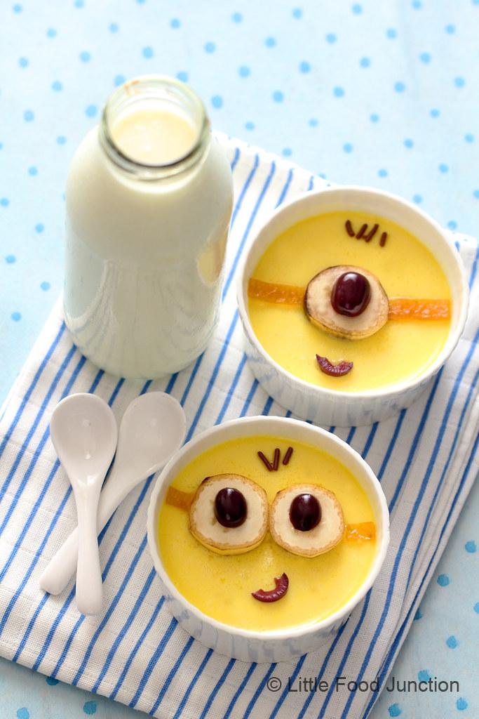 Minions baked yogurt