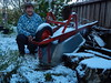 snow in my yard by jeaniephelan