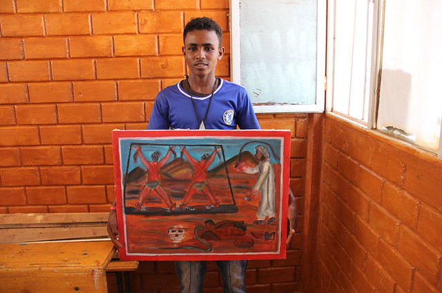 Young Eritreans paint grim realities