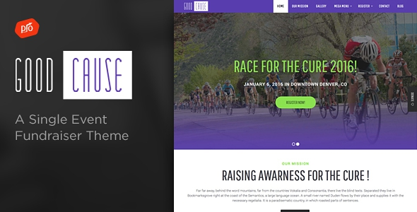 Good Cause v1.4 - A Single Event Fundraiser Theme