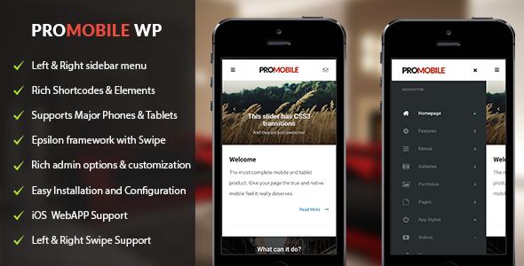 ProMobile v1.0.1 - Mobile and Tablet Responsive WordPress Theme