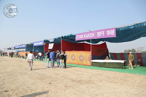 Pavilions in the Samagam campus