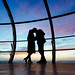 Kissing on the British Airways i360 by lomokev