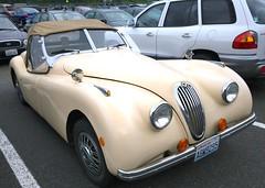 automobile, jaguar xk120, vehicle, automotive design, antique car, classic car, land vehicle, luxury vehicle, sports car,