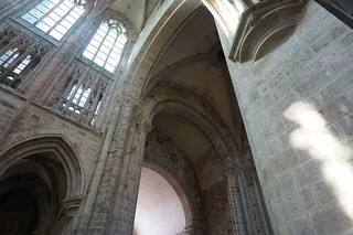 Huge vaulted ceilings in the church