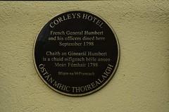 Photo of Jean Joseph Amable Humbert black plaque