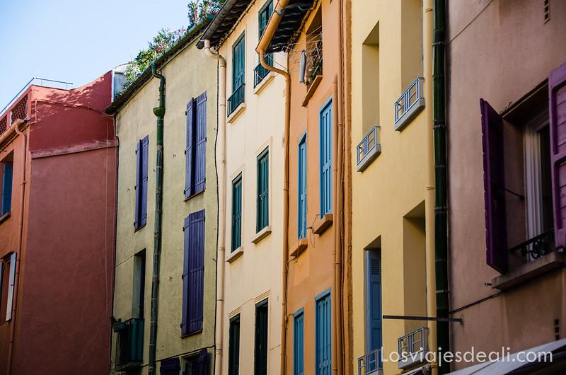 fachadas de Collioure y machado