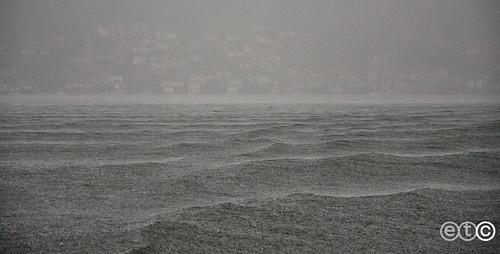 Lake Como under the rain