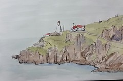 a lighthouse in Newfoundland