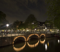 Amsterdam Canals at Night