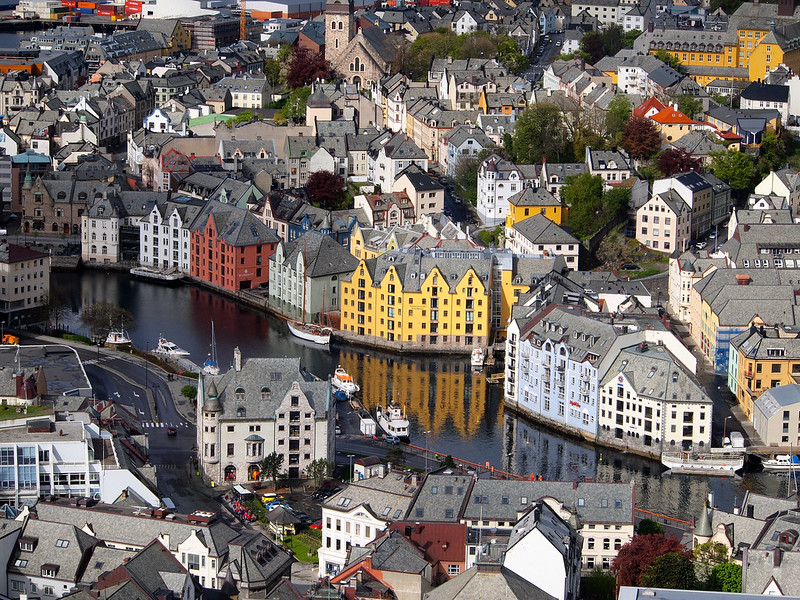 View of Alesund, Norway from the Aksla Viewpoint