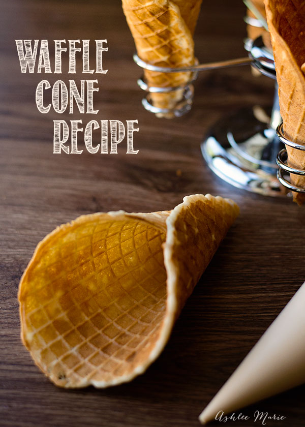 an easy waffle cone recipe.  it tastes great, and everyone loves it, it is easy to make bowls or cones and is a huge hit every time