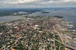 Maine - Portland from above