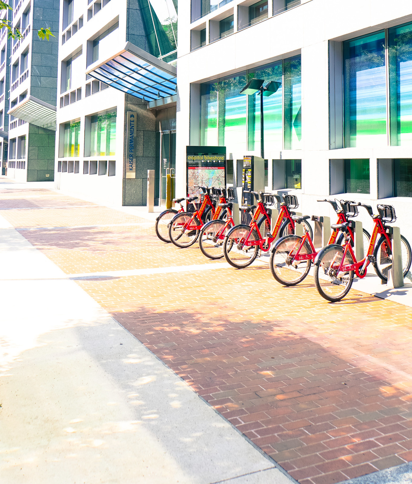 Center for Total Health Entrance with CTHNext Bikeshare 08285
