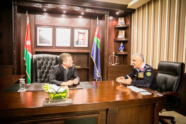 جلالة الملك عبدالله الثاني، القائد الأعلى للقوات المسلحة، يزور مديرية الأمن العام
