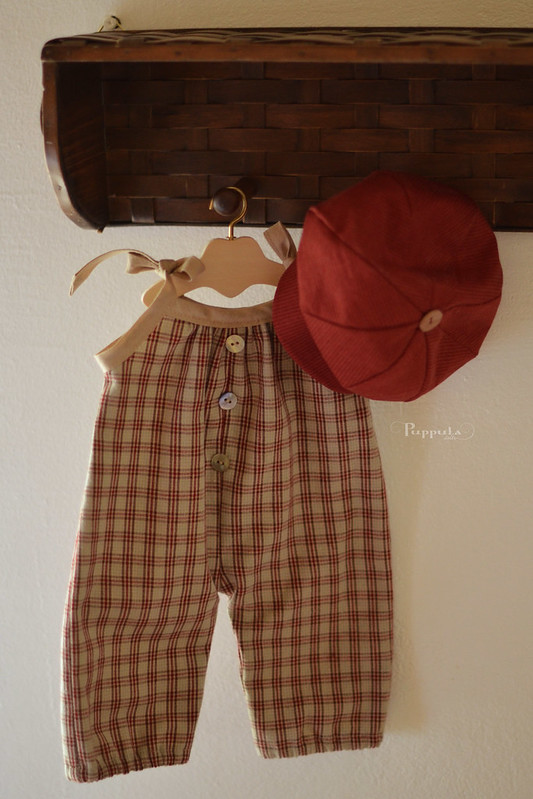 Overalls and hat, outfit for a 17/18inch doll