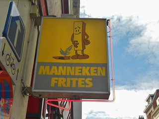 Funny Sign and Good Place for Fries