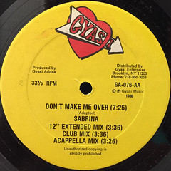 SABRINA & YANKS:DON'T MAKE ME OVER(LABEL SIDE-B)
