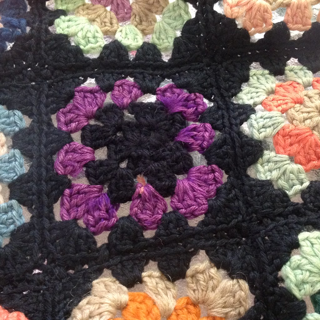 Granny square center replaced!