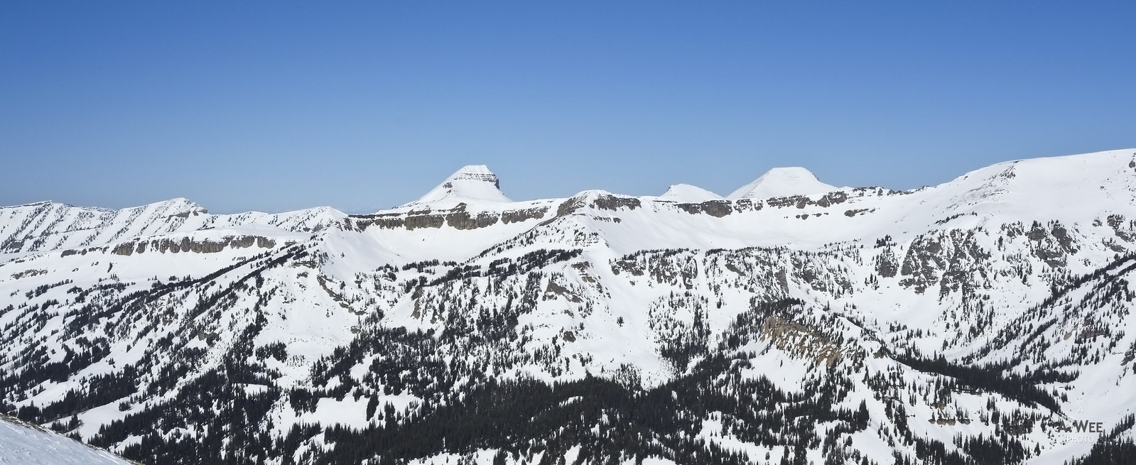 Panorama of the Grand Teton Range