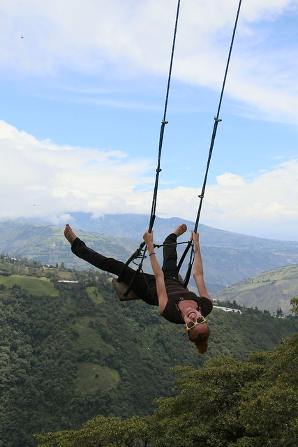 La casa del arbol and the swing at the end of the world.  Banos, Ecuador.