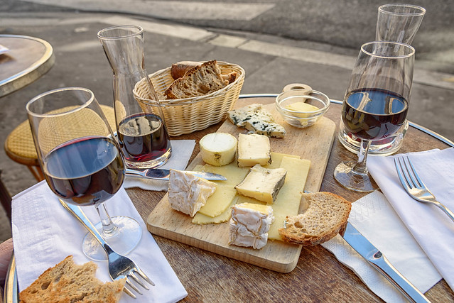 Cheese, Wine and Bread.