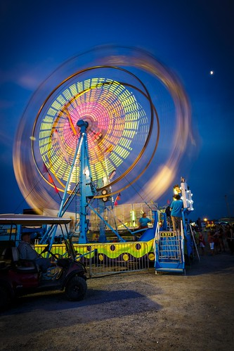Columbia Missouri, Boone County Fair, Fair, County Fair, Notley Hawkins Photography, Columbia Missouri, Downtown Columbia Missouri, Blue Hour, Evening, long exposure, http://www.notleyhawkins.com/, Ferris Wheel, night, nocturne, carnival