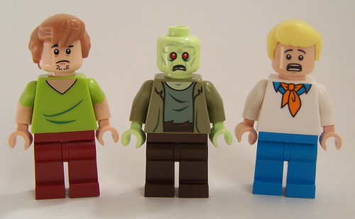 LEGO Scooby Doo Fred scared face
