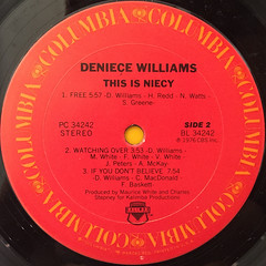 DENIECE WILLIAMS:THIS IS NIECY(LABEL SIDE-B)
