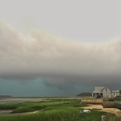 #blackfishcreek #Wellfleet #storm #weather #littlehouse #rain #capecod #landscape Perhaps my favorite Cape weather