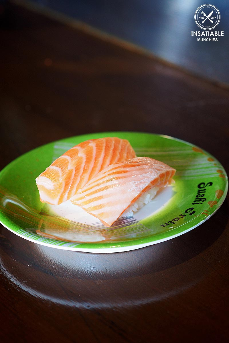 Sydney Food Blog Review of Sushi Train, Neutral Bay: Salmon Belly Nigiri