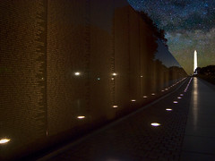 US Vietnam War Memorial Milky Way