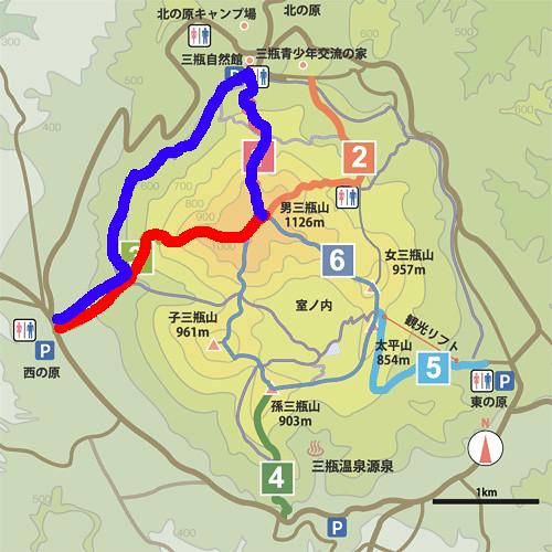 三瓶山地図