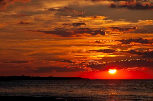 water lake sun sunset sunrise redsun