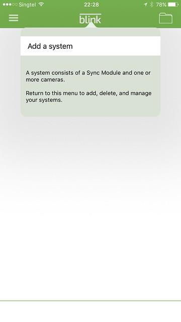 Blink iOS App - Blink System - Setup #2