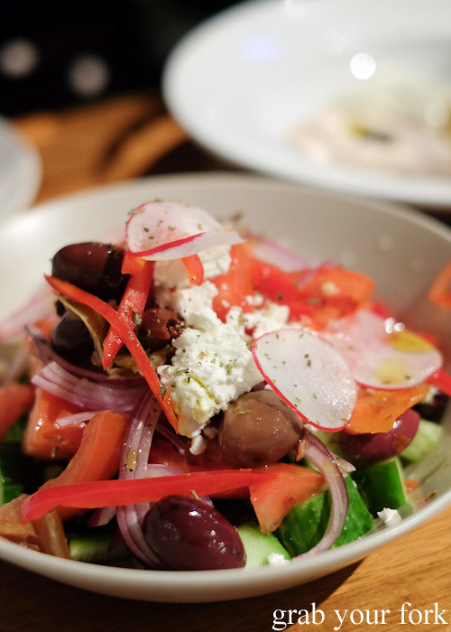 Greek salad at David Tsirekas' Perama pop up at Plunge 46, Summer Hill