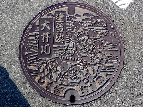 Shimada Shizuoka, manhole cover (静岡県島田市のマンホール)