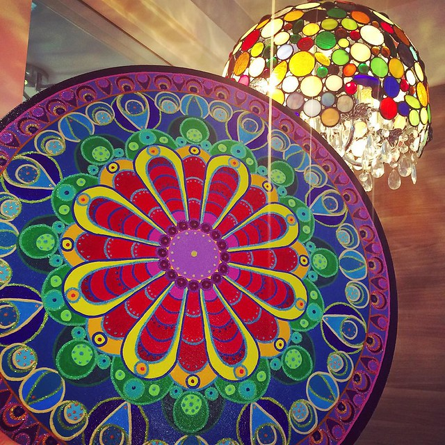 The Mandala coordinates so nicely with their gorgeous lamp 💖
