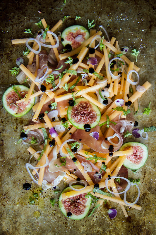 Melon, Fig and Prosciutto Salad