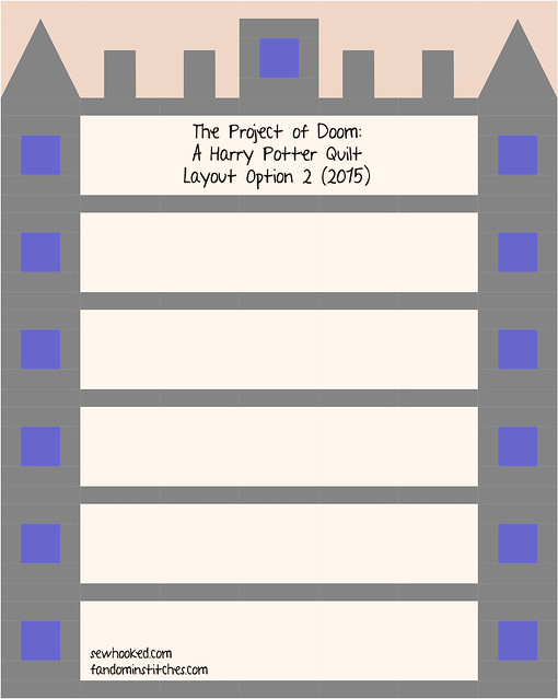 The Project of Doom - A Harry Potter Quilt (2015 Layout 2)