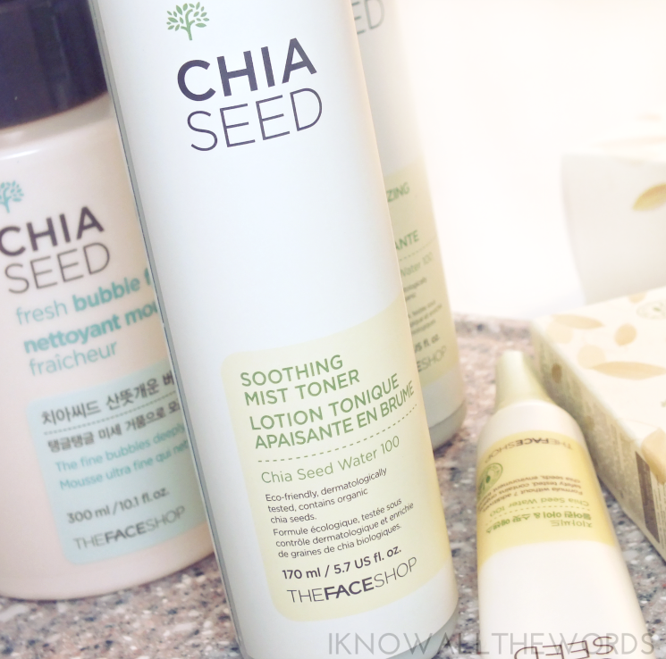 THEFACESHOP chia seed soothing mist toner