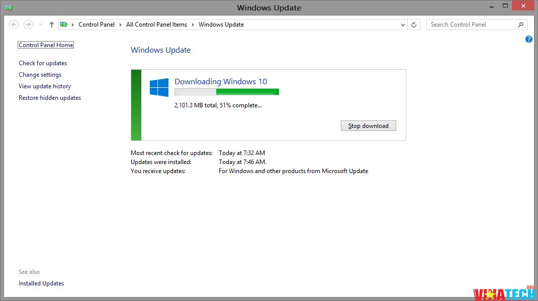 Ép Windows hiện hành của bạn download hoặc chạy bản cập nhật Windows 10 bằng Command Prompt