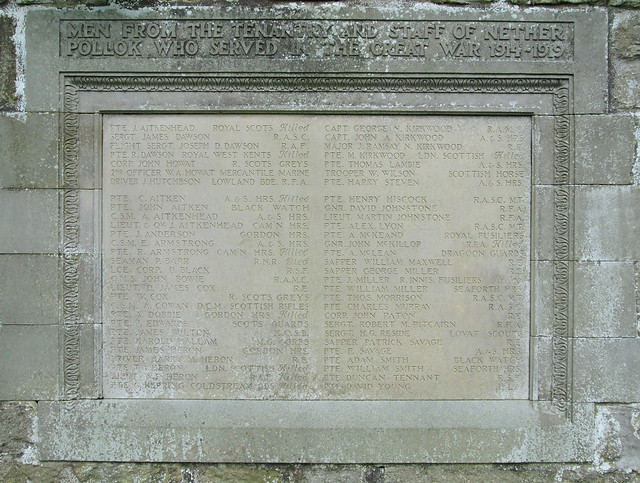 Pollok House War Memorial