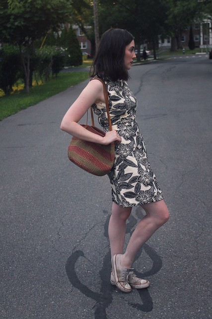 Sneakers and a dress is just easier
