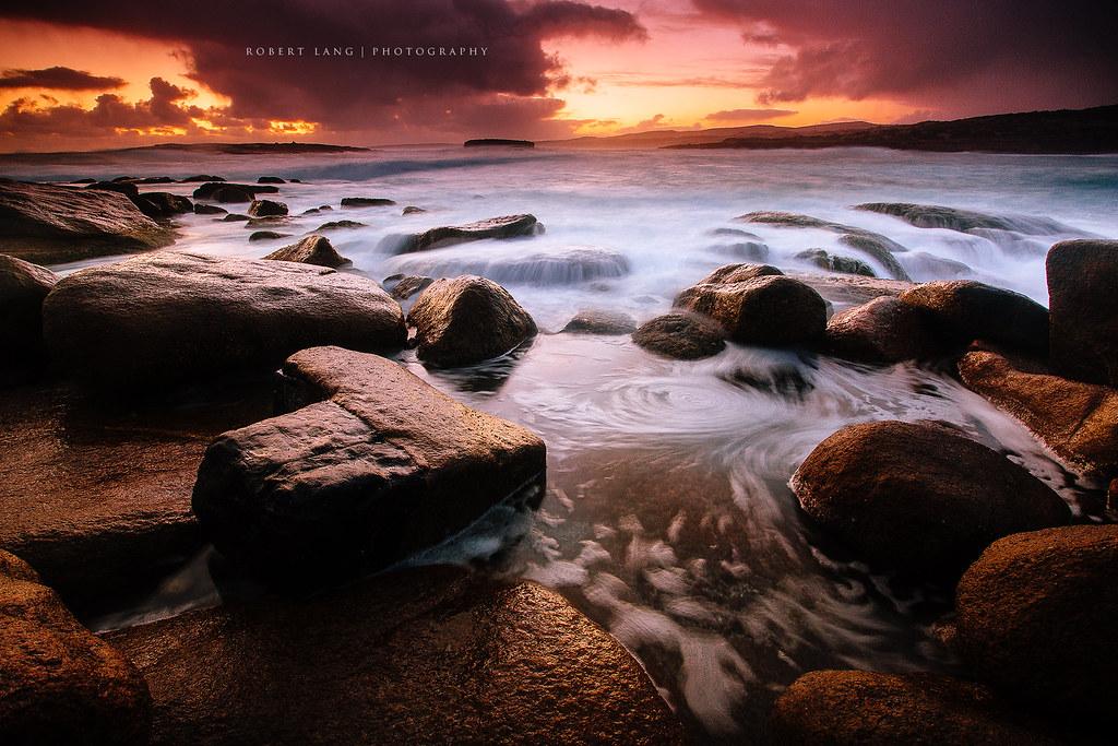 Coastal sunset, Australia