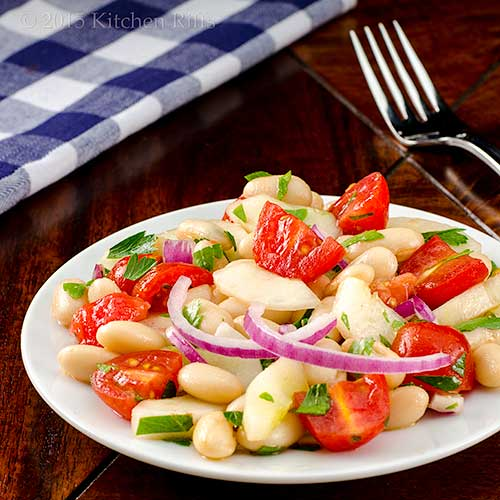 Tomato, Cucumber, and White Bean Salad
