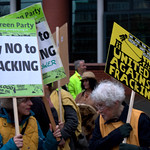 Anti-fracking campaigner Tina Louise Rothery's court case in Preston protest - 11