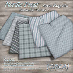 """@ The Project Se7en - [CIRCA] - """"Nordic Frost"""" - Area Rug Set - Wrinkled & Flat Mix 2"""