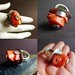 Orange Coral and Sterling Silver Ring by Over the Top of NY